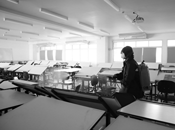 ฝ่ายอาคารสถานที่และบริการ มหาวิทยาลัยราชภัฏสวนสุนันทา ฉีดพ่นยาฆ่าเชื้อป้องกัน COVID19