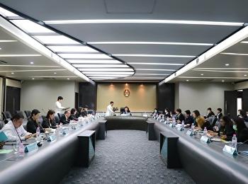 ผู้แทนคณาจารย์ประจำวิทยาลัยสถาปัตยกรรมศาสตร์ เข้าร่วมการประชุมสภาคณาจารย์และข้าราชการฯ